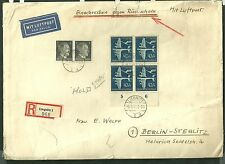 1944 Cover sent from poland to berlin germany liegnitz par avion