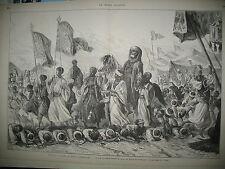 EGYPTE LE CAIRE FETES RETOUR PELERINS DE LA MECQUE DOSÊH Gal VINOY GRAVURES 1880