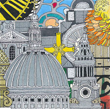 ST.PAUL'S CATHEDRAL Cityscape Contemporary Ink Print Artist signed&numbered