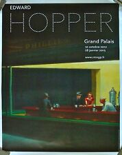 Edward Hopper Wall Publicity Poster for the Current Show on Linen