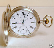 VINTAGE ZENITH POCKET WATCH 0.900 SOLID SILVER TEXTURED CASE ALL ORIGINAL NICE