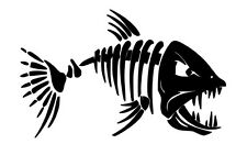 Scary Skeleton FIsh Vehicle Car Decal Tackle Box Sticker Laptop Wall Art