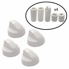 Four UNIVERSAL for SCHREIBER Oven Hob White Control Knob & Twenty Adapters