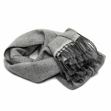 Mens Cashmere Scarf, 100% Cahsmere Herringbone Scarf, Luxury Soft Cashmere Scarf