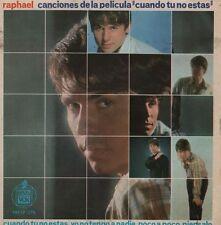 """RAPHAEL Canciones de la pelicula Cuando tu no estas 7"""" EP 45 r@ro VINILO de 1966"""