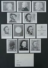 BUND FOTO-ESSAY`s 566 RICHARD WAGNER 1968 12 PHOTO-ESSAY PROOF RARE!! e413
