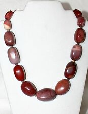 "JAY KING Chunky Purple Brown Jasper Sterling Silver 20+3"" Beaded Necklace NWT"