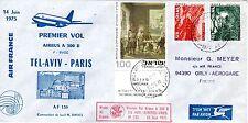 B0368- 1er  VOL    AIRBUS A300 B  AIR FRANCE   TEL- AVIV   PARIS  14/06/75