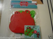 New ! Christmas Holiday Gift 10 Pieces Foam Ornaments  Party and Activities
