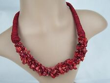 Lastest Handmade Huge Natural Red Coral Necklace Fashion Charming Jewelry