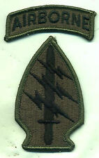 Vietnam Special Forces OD Green Patch W/Airborne Tab