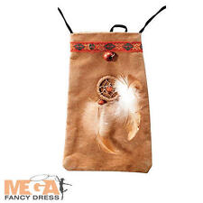 Red Indian Pouch Fancy Dress Western Wild West Kids Adults Costume Accessory New