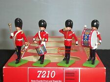 BRITAINS 7210 SCOTS GUARDS DRUM + BUGLE CEREMONIAL METAL TOY SOLDIER FIGURE SET