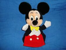 """Mickey Mouse Hand Puppet Disneyland Mouseketoys 11"""" tall"""