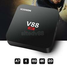V88 Android TV Box 4K 3D 1080P Quad Core 1+8G WiFi Smart Set top Box