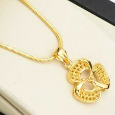 """Fashion 18k Yellow Gold Filled Pendant 18"""" Link Womens Chain Unique Necklace Hot"""