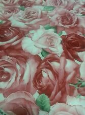 Bloomcraft American Beauty Rose Screen Printed Fabric Soil Stain Resistant 5 yds