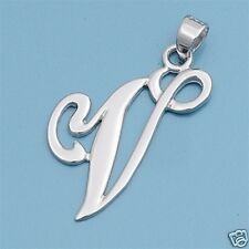 Alphabet Letter Pendants Sterling Silver 925 Best Price Jewelry Gift Initial V