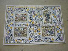 Bloc feuillet  doré  Salon du timbre  2014 neuf