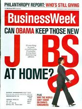 2008 Businessweek Magazine: Can Obama Keep Those New Jobs At Home?/Philanthropy
