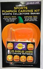 Los Angeles Lakers Halloween Pumpkin Carving Kit New Stencils for Jack-o-latern