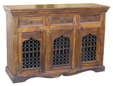 JALI 3 DOOR SIDEBOARD CABINET BEAUTIFUL REAL SOLID INDIAN SHEESHAM ROSEWOOD