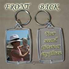 PERSONALISED Your Own Keyring - Picture Message On Keychain