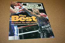 "PERNELL ""SWEET PEA"" WHITAKER SIGNED 8X10 PHOTO SPORTS ILLUSTRATED COVER"