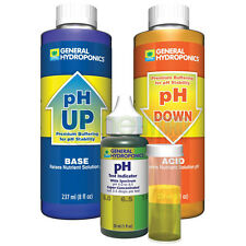 General Hydroponics pH Control Kit Adjust pH Up pH Down Test Kit