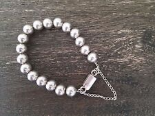 Retired Silpada 925 Sterling Silver 10mm Bead Ball Bracelet B0471  PRISTINE