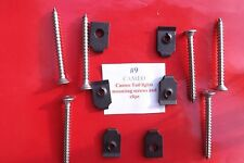 CHEVY CAMEO GMC 1955 56 57 58 12 piece SS BOLT & clips tail light attachment kit