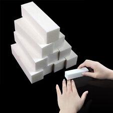 4PCS White Nail Art Buffer File Block Pedicure Manicure Buffing Sanding Polish