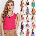 Sexy Women Casual Sleeveless Chiffon Shirt Blouse Tank Vests T Shirt Tops Shirts