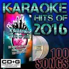Mr Entertainer Karaoke Chart Hits of 2016, CD+G Disc Set, 100 Songs