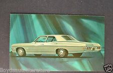 1968 Chevrolet Impala 4-Door Sedan Postcard Sales Brochure Excellent Original 68