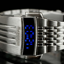 INFANTRY Mens LED Digital Wrist Watch Police Style Month Sport Stainless Steel