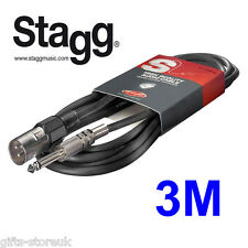 Stagg SAC3PXMDL S. A Xlr 3m Audio 6mm Series Cable para etapa músico-Nuevo