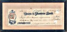 Original Autographed Check:  Former CSA Pres Jefferson Davis to M Apperson, 1873