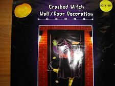 Crashed Witch Door/Wall Crashing Yard Halloween decoration decor mural pole NEW!