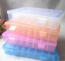 FD1942 Storage Box Case 24 Cells for Rainbow Loom Kit Rubber Bands Charms Hook