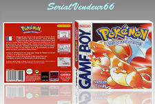"BOITIER du jeu ""POKEMON VERSION ROUGE"", GAME BOY. PAL FR. HD. SANS LE JEU."