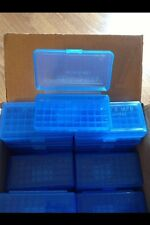 BERRY'S PLASTIC AMMO BOX 50 Round 9MM 30 25 32 401 (BUY 7 GET 3 FREE) (1) BLUE
