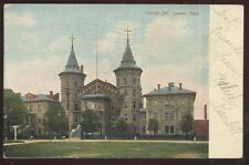 Postcard LOWELL Massachusetts/MA  County Jail Building w/Twin Spires view 1906?
