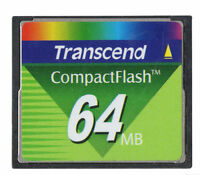 Transcend 64MB Compact Flash CF Memory Card 64 MB CompactFlash I