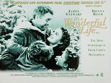 "Its a Wonderful Life 1946 16"" x 12"" Reproduction Movie Poster Photograph 2"