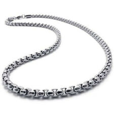 """MEN 2MM Silver 20"""" Stainless Steel Pearl Box Chain Necklace Fashion Pendant 1PC"""