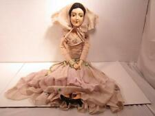 Antique Boudoir Doll Vintage Compostion? and Cloth Bed Doll Long Legs W/Clothes