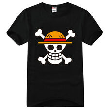 Top Anime One Piece Monkey D Luffy Cotton Shirt Short Sleeve T-shirt Clothing