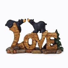 Big Sky Carvers Bearfoots Bears Love Figurine by Artist Jeff Fleming Black Bear