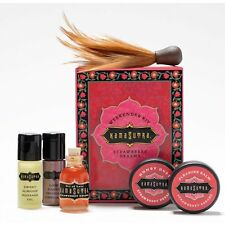 Kama Sutra Weekender Kit Strawberry Massage Oil Honey Dust Feather Romantic Gift